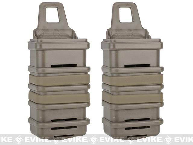 Fast Hard Shell Magazine Holsters Set of 2 for MP7 MP5 Pistol SMG (Color: Dark Earth)