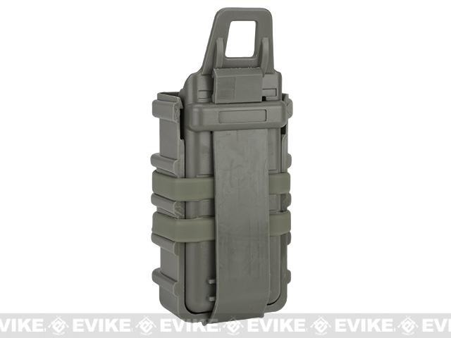 Fast Hard Shell Magazine Holsters Set of 2 for MP7 MP5 Pistol SMG (Color: Foliage Green)