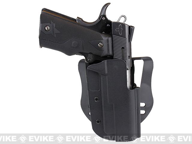 Blade-Tech Revolution Paddle Holster w/ Adjustable Belt Attachment - 1911 Commander (Right Hand - Black)