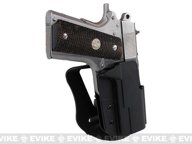Blade-Tech Revolution Paddle Holster w/ Adjustable Belt Attachment - 1911 Officer (Right Hand - Black)