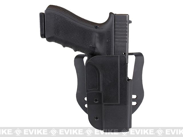 Blade-Tech Revolution Paddle Holster w/ Adjustable Belt Attachment - Glock 17 /22 / 31 (Right Hand - Black)