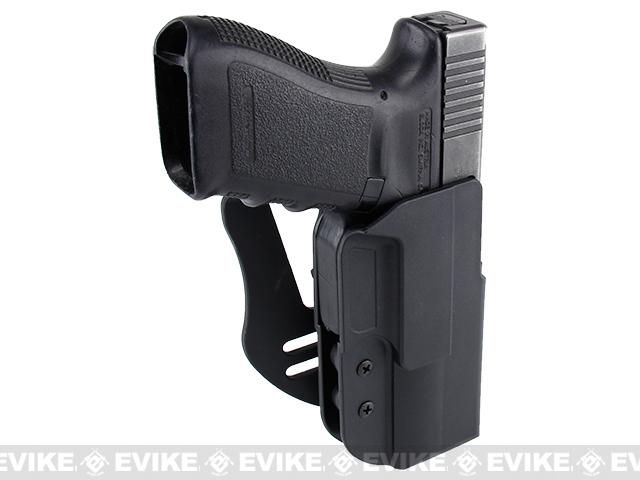 Blade-Tech Revolution Paddle Holster w/ Adjustable Belt Attachment - Glock 20 / 21 SF (Right Hand - Black)