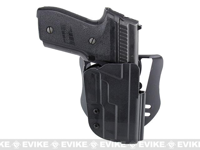 Blade-Tech Revolution Paddle Holster w/ Adjustable Belt Attachment - Sig 228 / 229 / 229R / 245 (Right Hand - Black)