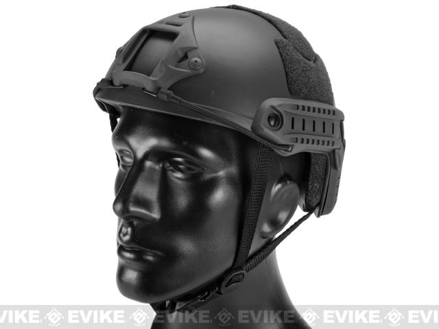 Emerson Bump Type Tactical Airsoft Helmet (MICH Ballistic Type / Basic / Black)