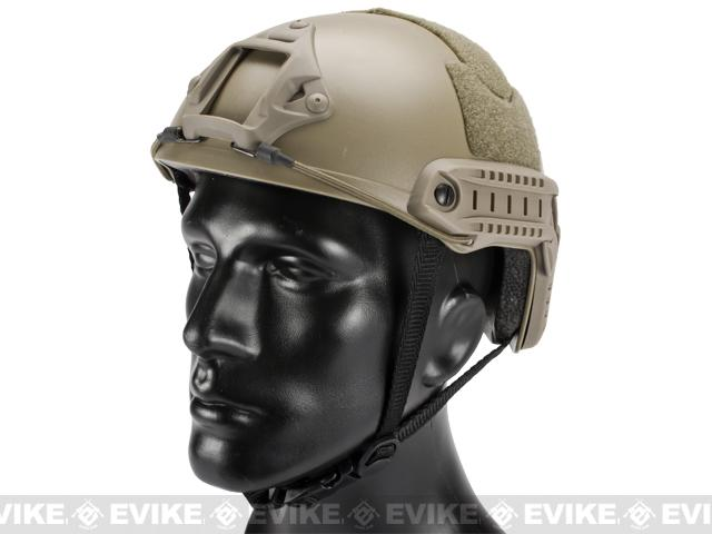 Emerson FAST Type Tactical Airsoft Helmet (MICH Ballistic Type / Basic / Dark Earth)