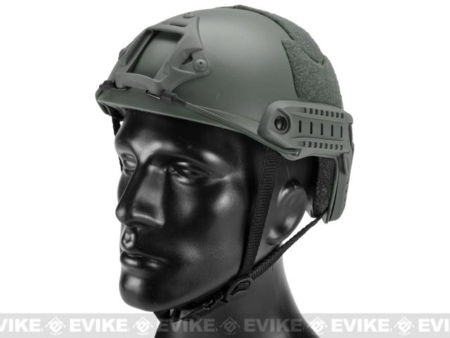 Emerson FAST Type Tactical Airsoft Helmet (MICH Ballistic Type / Basic / Foliage Green)