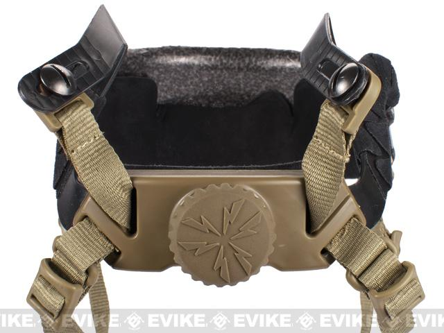 Replacement Headband and Pad Set for Bump Tactical Airsoft Helmet - Dark Earth