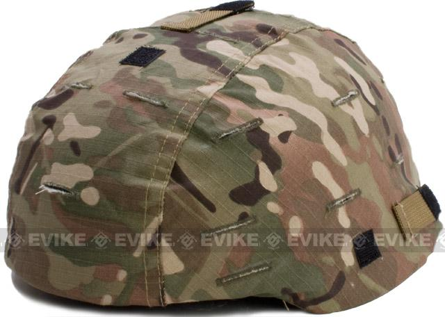 Military Style Combat Helmet Cover for MICH-2002 / T-2002 Protective Combat Helmet Series - Camo