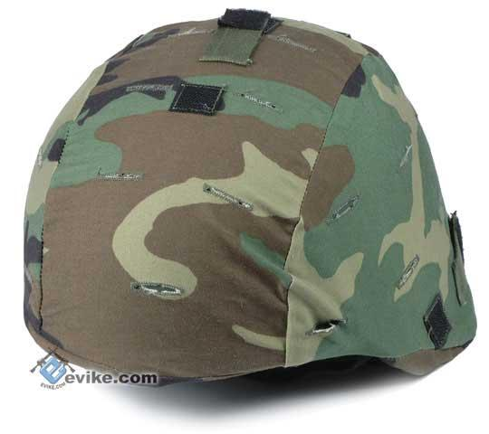 Military Style Combat Helmet Cover for MICH / ACH / TC-2000 Protective Combat Helmet Series - Woodland