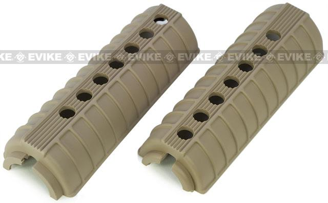 AR-15 Type M4 Polymer Handguard for M4 Series Airsoft AEG GBB Rifles - Dark Earth