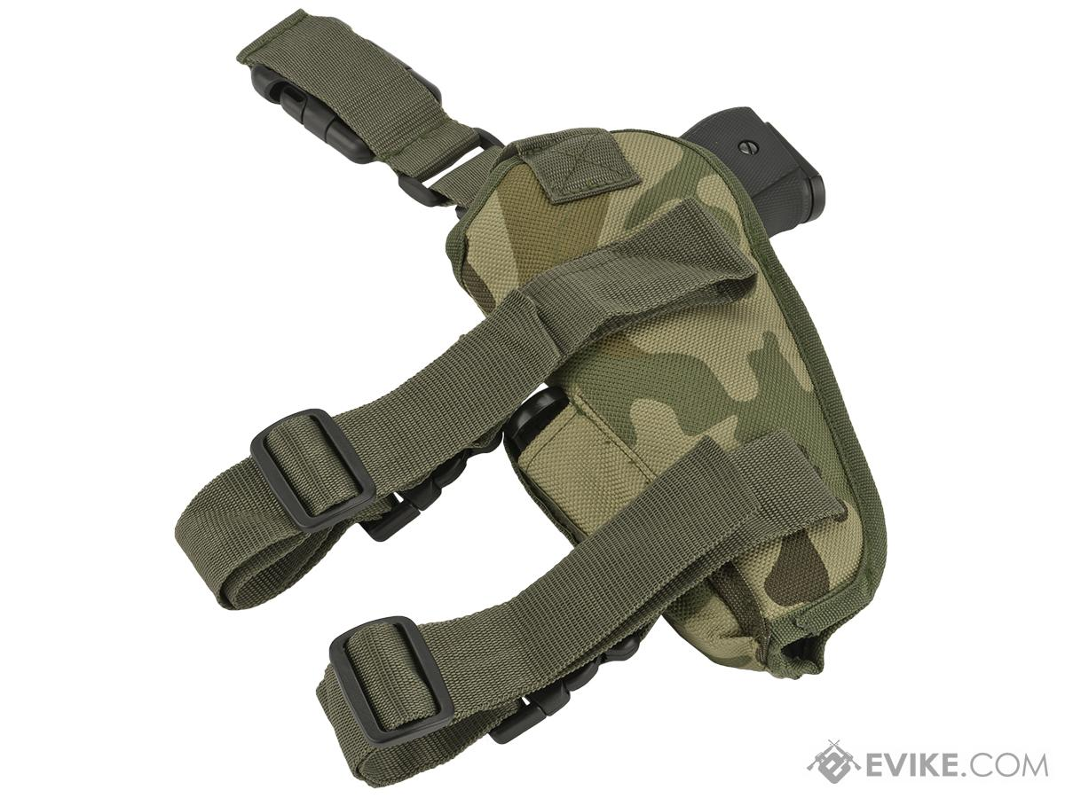 Matrix Deluxe Tactical Thigh Holster - Right Leg / Woodland