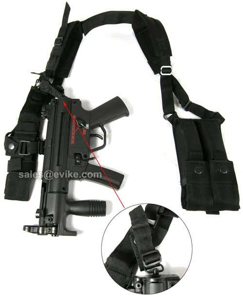 Matrix Mil-Force MP5K Mac11 UZI Shoulder Harness w/ Magazine Pouches