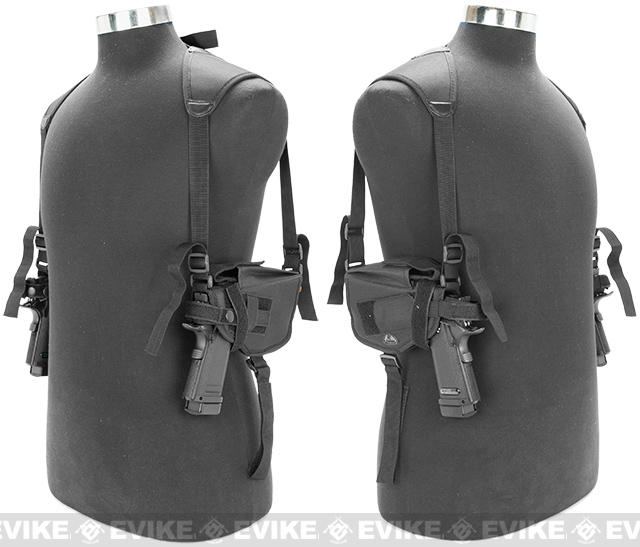 Matrix Tactical Modular Dual Pistol Shoulder Holster - (Black)