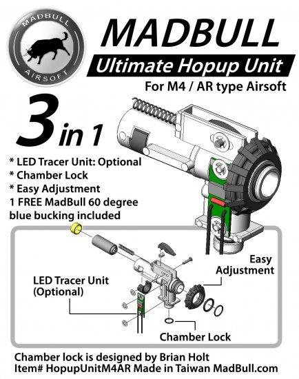 Madbull Airsoft Ultimate Hopup Unit for M4/M16 Series Airsoft AEG