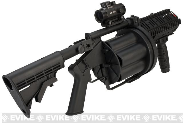 ICS MGL Gen.2 Short Barrel Airsoft Revolver Grenade Launcher - Black