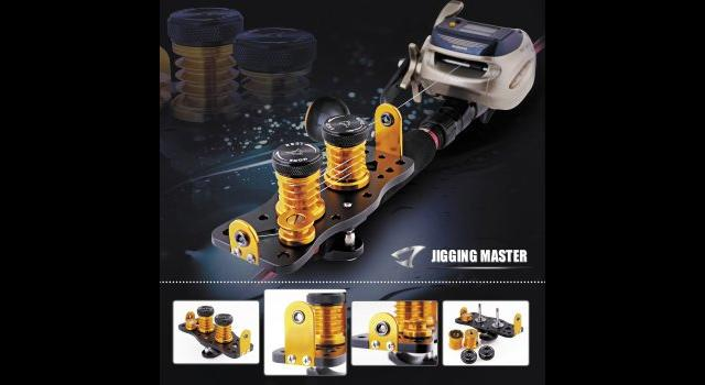 Jigging Master Professional Fishing Line Spool-Up Kit (Color: Black / Gold)