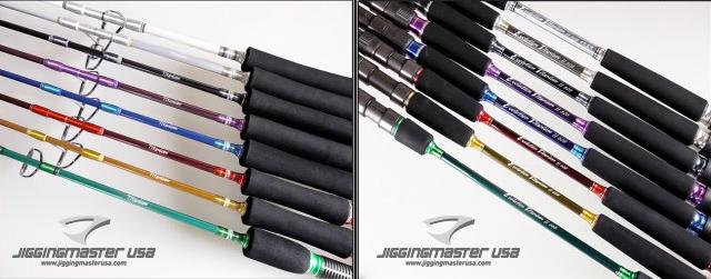 Jigging Master Evolution Titanium II Rod - Spinner / Underhead (Model: 100S Green)