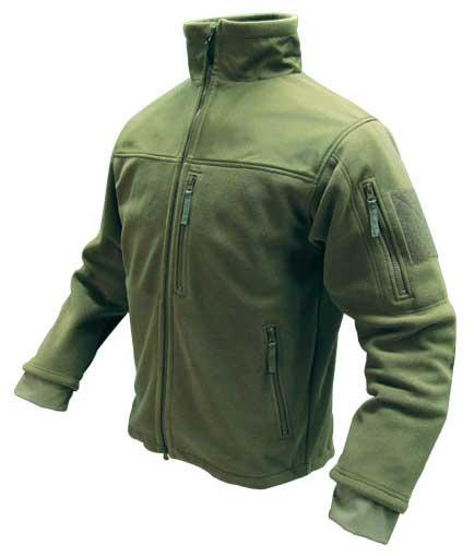Condor Tactical Fleece Military Cold Weather Jacket - OD Green (Size: X-Large)