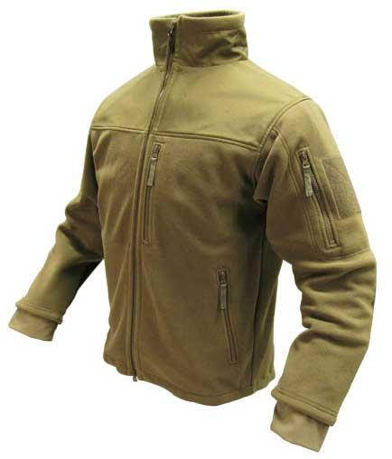 Condor Tactical Fleece Military Cold Weather Jacket - Tan (Size: XX-Large)