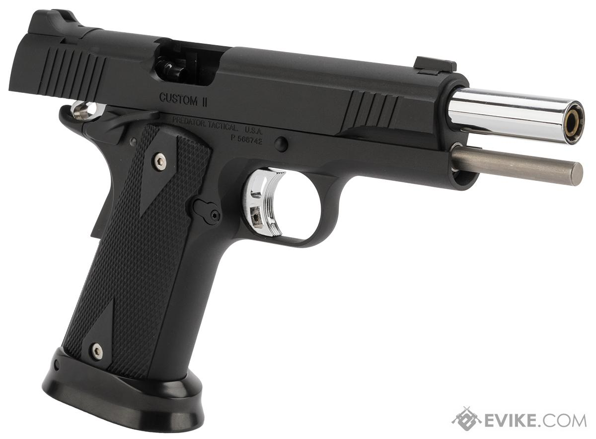 Predator Tactical Iron Shrike Gas Blowback 1911 Pistol by King Arms (Color: Black)