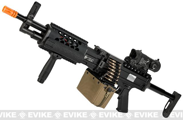 Bone Yard - Knight's Armament Airsoft (KAA) Full Metal Licensed KAC Stoner 96 LMG AEG Light Machine Gun (Store Display, Non-Working Or Refurbished Models)