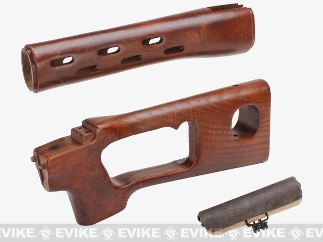 AIM Top High Grade SVD Real Wood Handguard & Stock Kit w/ Cheek Pad