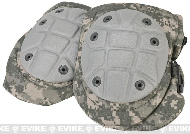 King Arms Warrior Advanced Tactical QD Knee Pads (Color: ACU / Army Camouflage)