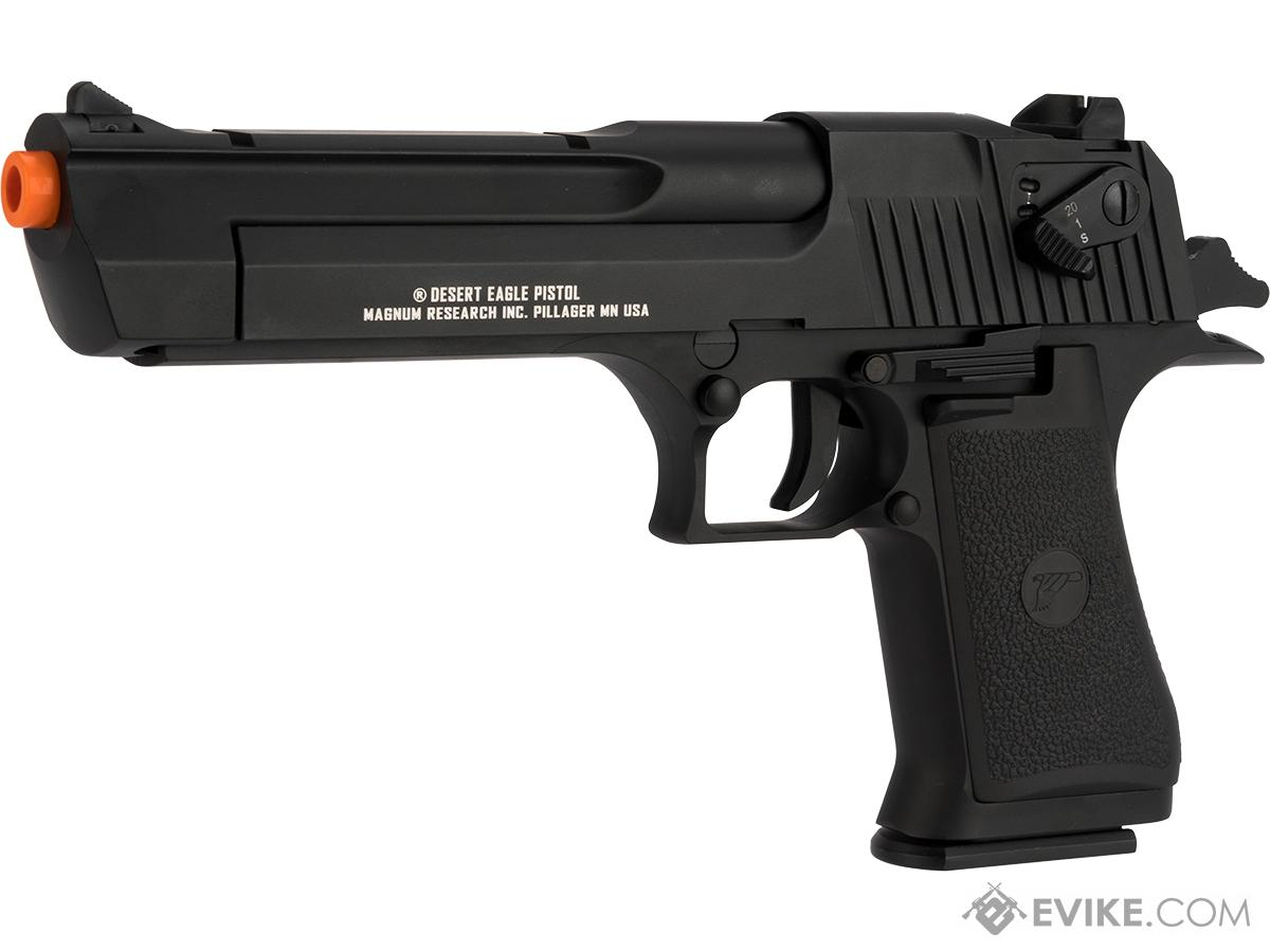 Pre-Order ETA August 2017 Magnum Research Licensed Semi/Full Auto Metal Desert Eagle CO2 Gas Blowback Airsoft Pistol by KWC (Color: Black)