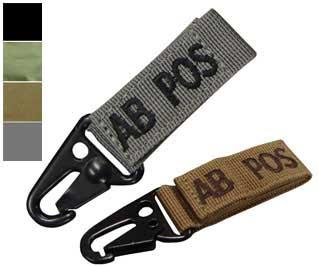 Condor  AB Positive  Blood Type Molle System Ready Key Chain - Tan