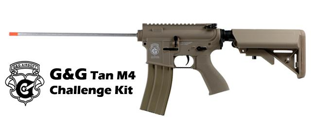 G&G M4 Challenge Kit Standard Combat Machine Airsoft AEG - Tan (Package: Gun Only)