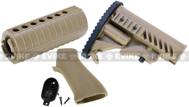 Matrix APS Furniture Conversion Kit for M4 Series Airsoft AEG - Dark Earth