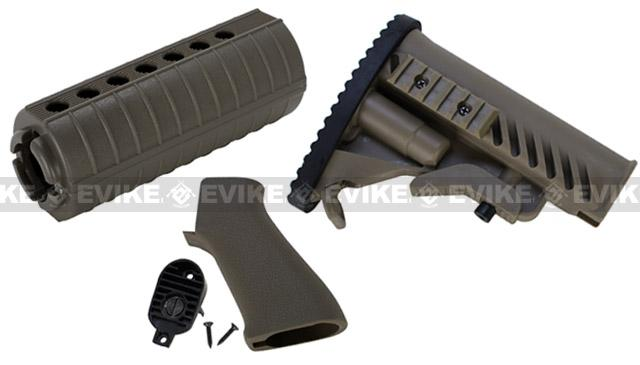 Matrix APS Furniture Conversion Kit for M4 Series Airsoft AEG - OD Green