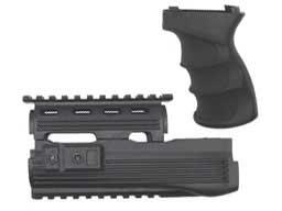 Matrix Desert Storm AK47 Type Railed Hand guard / AK47 G27 Type Grip Set. (Black)