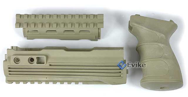 Matrix Desert Storm AK47 Railed Handguard / AK47 Grip Set (Desert Tan)