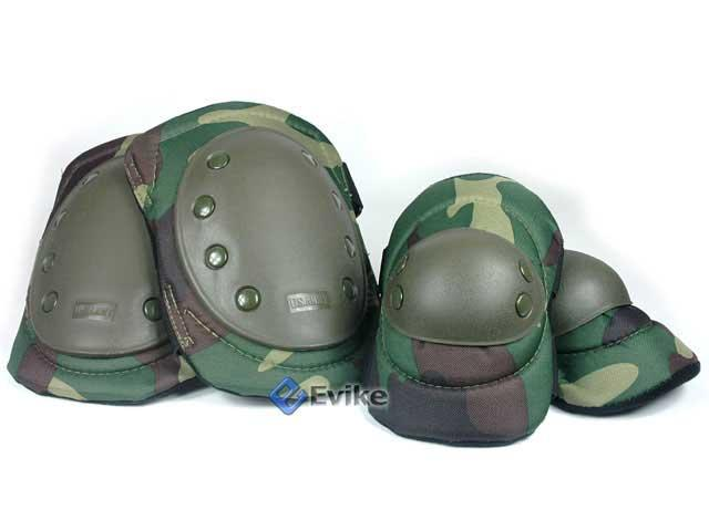 Avengers Special Operation Tactical Knee Pad / Elbow Pad Set - Woodland Camo
