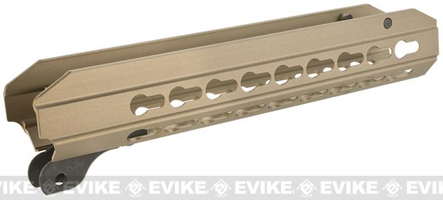 ICS OEM Replacement 9 KeyMod Hand Guard for CXP APE Series Airsoft AEG Rifles - Desert