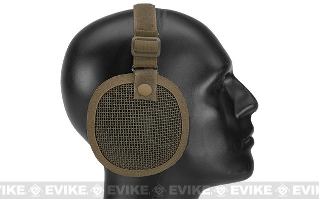 Matrix Tactical  Wire Mesh Ear Protector - Tan