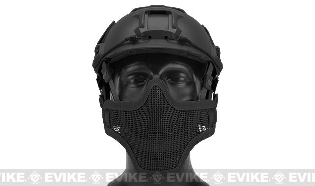6mmProShop Iron Face Mesh Striker V1 Lower Half Mask for Use with Bump Helmets - Black