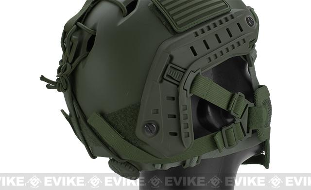 6mmProShop Iron Face Mesh Striker V1 Lower Half Mask for Use with Bump Helmets - OD Green