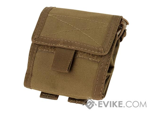 Condor Roll-Up / Foldable Tactical MOLLE Utility Dump Pouch- Coyote Brown
