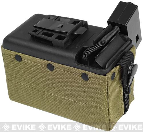 MAG 2500rd M249 Electric Winding Cartridge Pouch w/ Remote Switch (Tan)