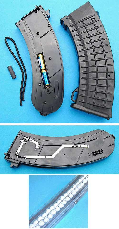 G&P AK 138 rds Illuminated Ver.III Tracer Magazine (Black) - for AK Series Airsoft AEG