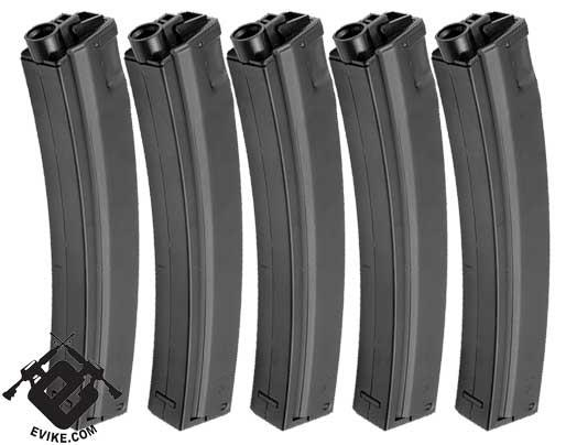 Matrix 260 rds Hicap Full Metal Magazine for MP5 / MOD5 Series Airsoft AEG (set of 5)