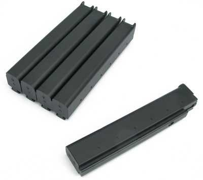 King Arms 110 rd Mid-Cap magazines for Thompson Series Metal Gearbox Airsoft AEG (Package: Box set of 5)