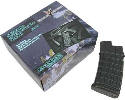 King Arms AUG 110rd Mid Cap No Winding Magazine. (Box of  5)