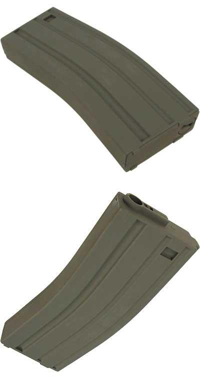King Arms 120 rds Mid-Cap Magazine For M4 M16 Airsoft AEG - OD (One)