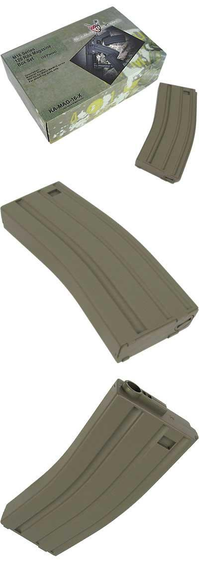 King Arms 120 rds Mid-Cap Magazine For M4 M16 Airsoft AEG - Desert (Box of 10)