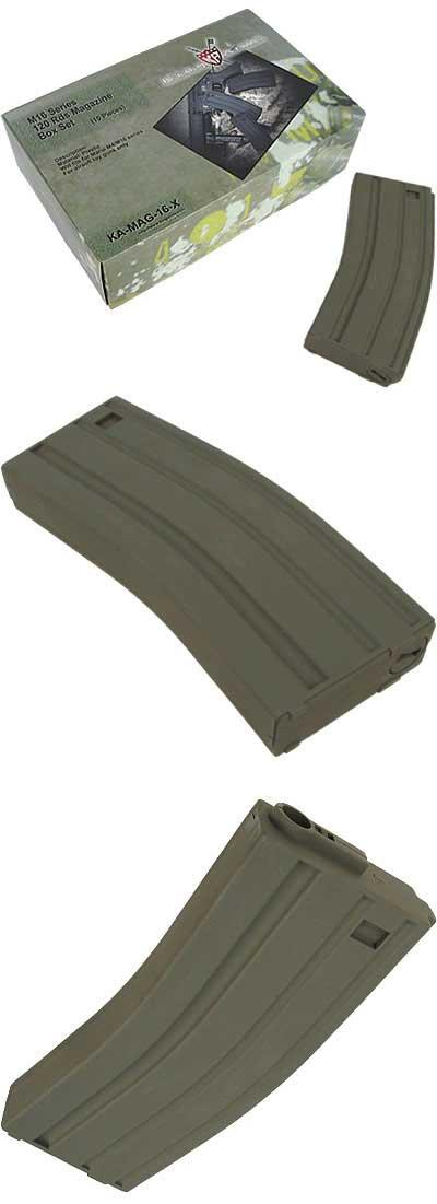 King Arms 120 rds Mid-Cap Magazine For M4 M16 Airsoft AEG - OD (Box of 10)
