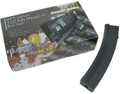 King Arms 100 rd Mid-Cap Magazine for MP5 Series AEG. ( Box of 5 )