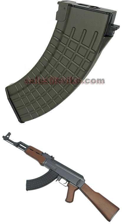 MAG Waffle Type 100 Round Mid-cap magazine for AK Series Airsoft AEG (1 pcs) / OD Green